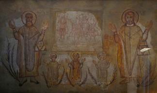 Koptische afbeelding van heiligen (foto: Flickr/tortipede)