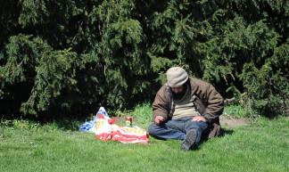Zwerver in het Park - Marco Derksen