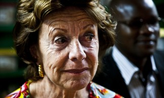 Neelie Kroes, Vice President of the European Union and Commissioner for the Digital Agenda visits Kenya - Neelie Kroes