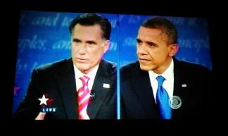 #romney & #obama big @BalboaTheatreSF #debate #debates - Steve Rhodes
