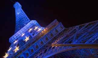 Blue Eiffel Tower - looking4poetry