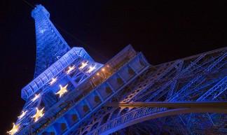 Blue Eiffel Tower - looking4poetry