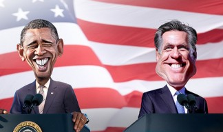 Obama vs. Romney 2012 - DonkeyHotey