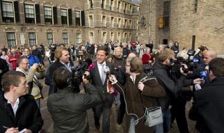 Rutte en Samsom op het Binnenhof - Minister-president Rutte