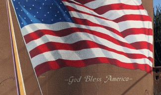 America God Bless Flag - cobalt123