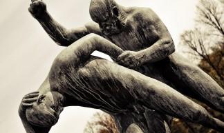 Old Man hitting a Young Man - C.K. Koay