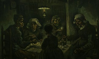 """The potato eaters, Vincent van Gogh (1885)"" / ""De aardappeleters, 1885 Vincent van Gogh (1853-1890)"" - BlikStjinder"