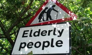 Elderly People - sign on Warwick Road, Olton - Elliott Brown