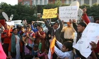 Protests at Safdarjung Hospital - Ramesh Lalwani