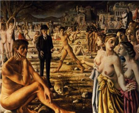 cc WikiPaintings Paul Delvaux City worried 1941