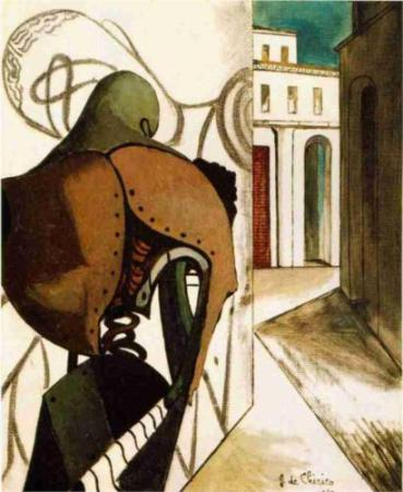 cc Wikipantings.org Giorgio de Chirico - The Vexations of the Thinker 1915