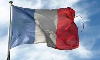 Old Frayed French Flag - fdecomite