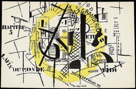 cc Flickr Iliazd's photostream La fin du monde de Blaise Cendrars avec des illustrations de Fernand Léger