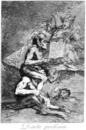 cc Wikipaintings.org Francisco Goya The Devout Profession