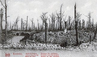After the War: Ruins of the Castles (Postcard), Kemmel Hill, Flanders, Belgium, Undated - John Perivolaris