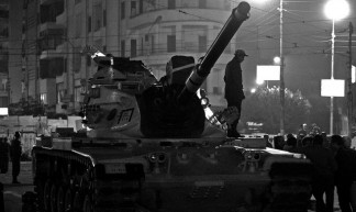 the 5th tank came  to Morsi's Presidential palace round - Moud Barthez