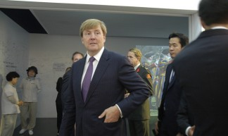 Visit of Willem-Alexander, Prince of the Netherlands - Swiss Pavilion