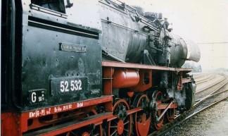 Stoomtren, Apeldoorn, Netherlands.  Veluwsche Stoomtrein Maatschappij  - VSM Kriegslok 52 532. 1996 - Felix O