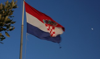 Croatia flag and the moon - Ingo Meironke
