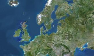 Europe - Satellite image - PlanetObserver - PlanetObserver