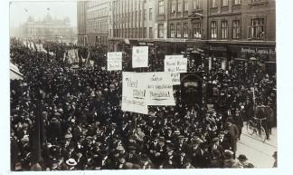 Politisk uro i København - Political unrest in Copenhagen, 1915 - Statens Arkiver - Danish State Archives
