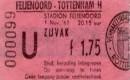 Prijs kaartjes Feyenoord in stadion De Kuip van 1961 tot en met 2013