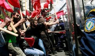 Greeks protest austerity cuts - Joanna