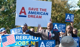 "American Dream Movement Rally to Demand ""Jobs Not Cuts"" - SEIU"