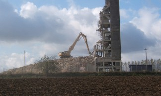 Haughley grain silo demolition (1) - Andrew Hill