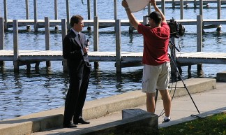 Reporter Gets Ready - Frank Swift