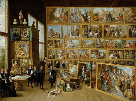 cc Wikimedia commons David Teniers de Jonge Erzherzog Leopold Wilhelm in seiner Galerie in Brüssel 1651
