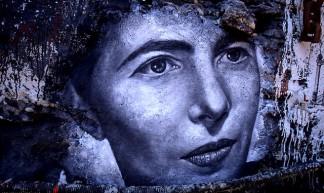 Simone De Beauvoir, painted portrait - thierry ehrmann