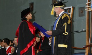 Nadia Receiving her PhD (Official Photo) - Ameel Khan