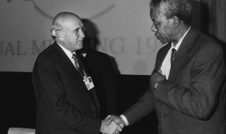 Frederik de Klerk & Nelson Mandela - World Economic Forum Annual Meeting Davos 1992 - World Economic Forum
