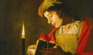 cc commons.wikimedia.org Matthias Stom young man reading by candlelight