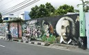 Street art in Yogyakarta: vluchtige kunst