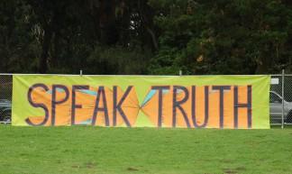 Speak Truth Banner - Donna Sutton