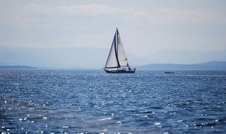 Sailing north of Stuart Island - Northwest Adventure Guy