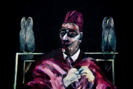 cc Flickr sainz photostream Francis Bacon - Pope with Owls (1958)