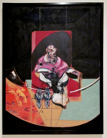 cc Flikcr rocor photostream Francis Bacon Figure with Two Owls, Study for Velazquez, 1963