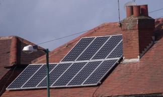 Solar panels on a roof - Northfield - Elliott Brown