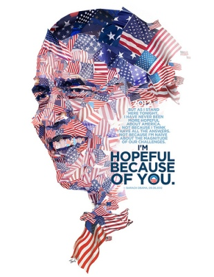 cc Flickr Charis Tsevis photostream Barack Obama Hopeful because of you