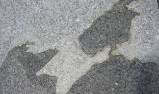 Crimea on a stone map - futureatlas.com