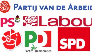 Logo's van sociaaldemocratische partijen