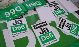 D66 voert campagne - Jeroen Mirck
