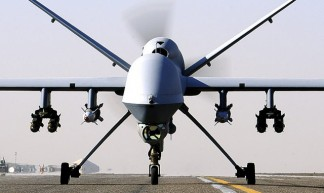 Reaper UAV Taxis at Kandahar Airfield - UK Ministry of Defence