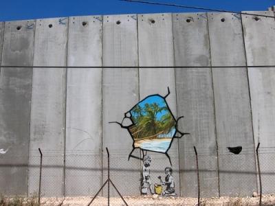 cc Flickr Adam Walker Cleaveland photostream Banksy Graffiti Art in The Wall