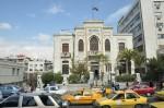 Het waterleidingsgebouw in Damascus.  De speelfilm toont hoe de Arabieren niet in staat waren de watervoorziening te laten functioneren maar bereikten dat hun vlag op het gebouw zou hangen. In 2008, toen ik deze foto maakte, was dat nog steeds het geval.