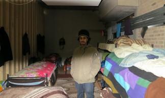 M in his sleeping area - Mark Fonseca Rendeiro