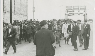 Alabama civil rights movement: Selma to Montgomery march, halted at the Edmund Pettus bridge (Tuesday, March 9, 1965) - Penn State Special Collections